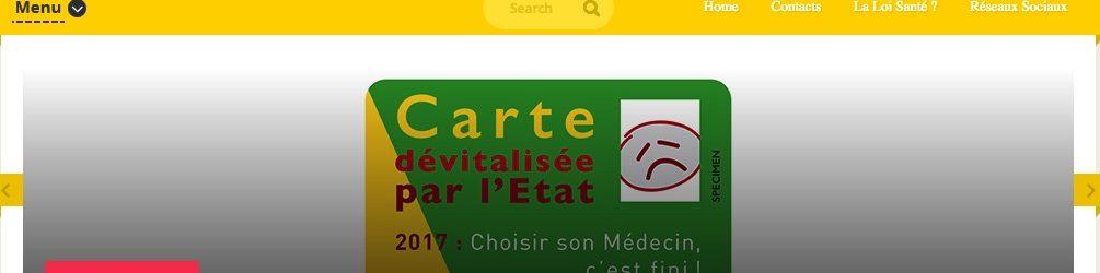 Site INTERNET : CARTE VITALE DEVITALISEE